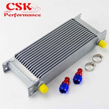 16 ряд AN8 Универсальный Алюминий двигателя трансмиссия 248 мм масляный радиатор в британском стиле Тип w/фитинги Комплект серебро >> CSKS-Performance Accessories Store