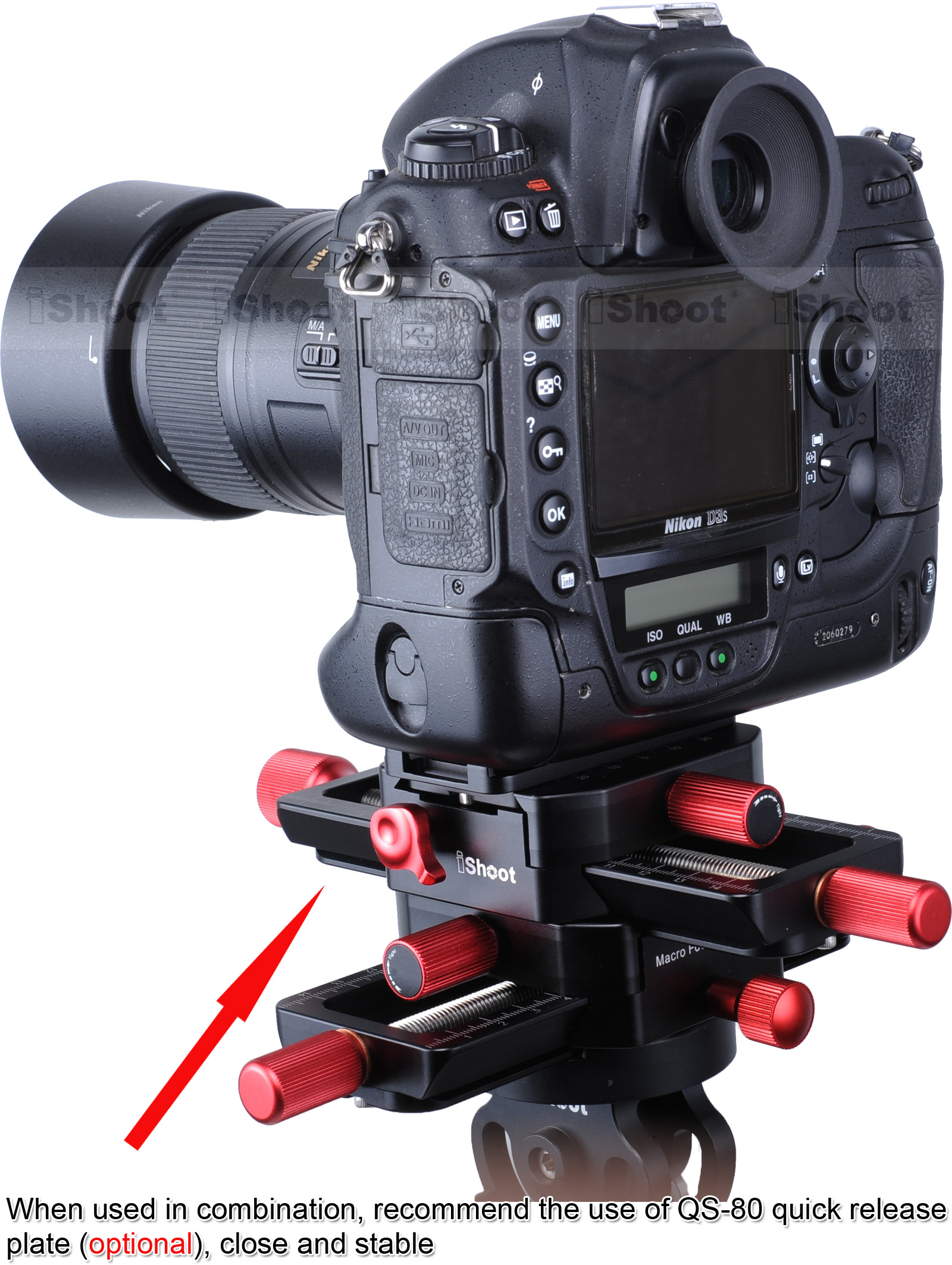 Image 4 - 150mm 4 way Macro Focusing Rail Slider Head With Arca Swiss Fit Clamp Quick Release Plate for Tripod Ballhead Canon Sony Camera-in Tripod Heads from Consumer Electronics