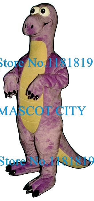 Purple Brontosaurus Mascot Costume Halloween Dinosaur Dragon Theme Cartoon Anime Cosplay Costumes Mascotte Fancy Dress Kits