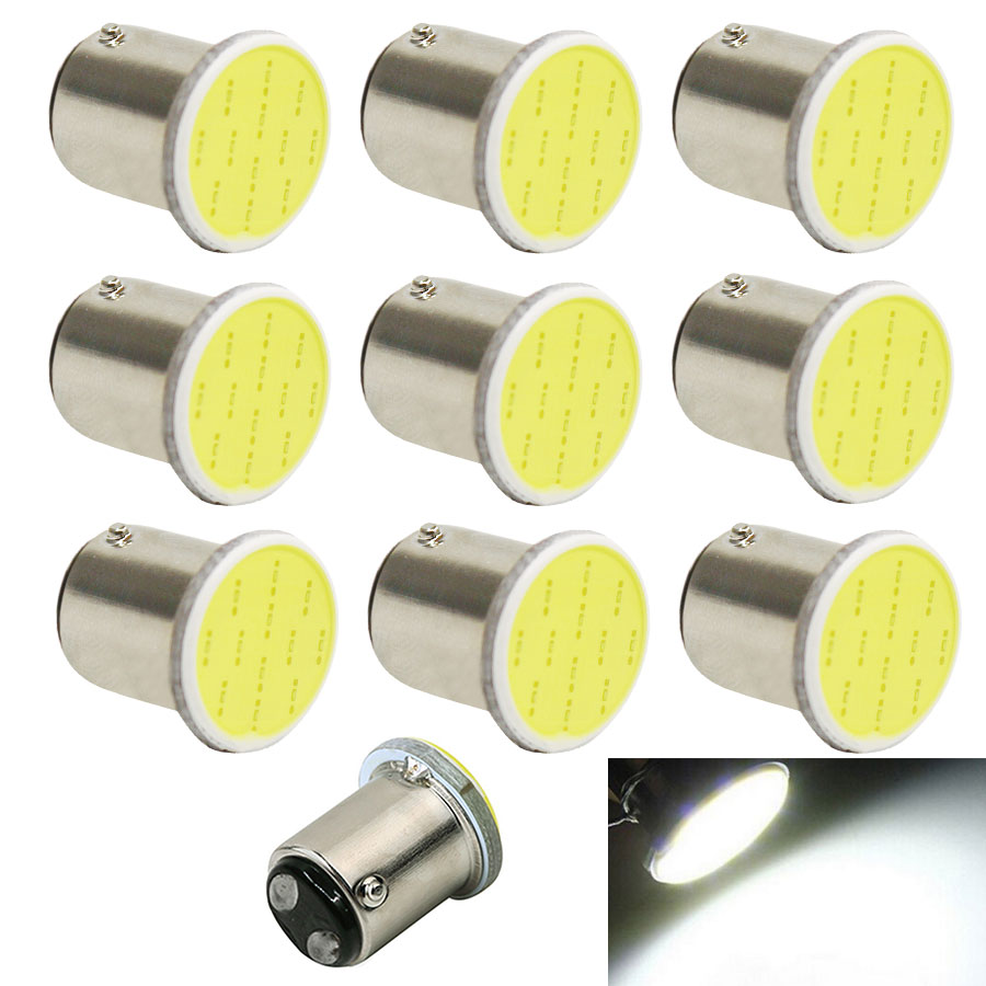 10PCS/Lot 1157 COB S25 P21/5W Bay15d 12V Car Light Source Led Light Auto Bulbs Rear Turn Signal Lamp Brake Parking Lights