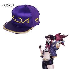 LOL KDA Cosplay Mask Girls Women Game for Akali Headwear Couple Hip-Hop-Hats Baseball-Caps