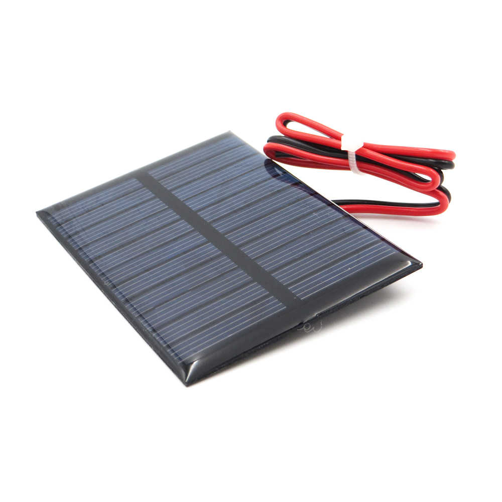 Solar Panel 5V 5.5V 80mA 100mA 150mA 160mA 200mA 250mA 300mA 500mA 840mA Mini Solar Battery Cell Phone with wire