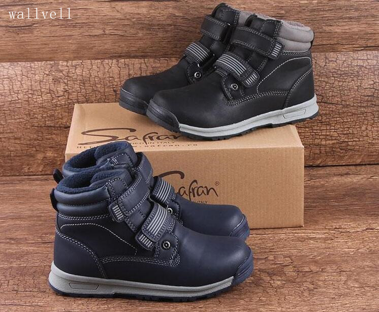 Wallvell Exported To Russian Children's Boots Soft Bottom Warm Handsome Boys Snow Boots Martin Boots Wear Non-slip