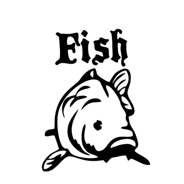 Sticker decoration fish carp fishing 10x9 cm 33x30 cm