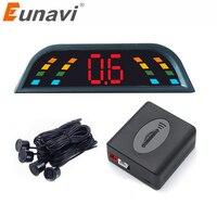 Eunavi Car Auto Parktronic LED Parking Sensor With 4 Sensors Reverse Backup Car Parking Radar Monitor