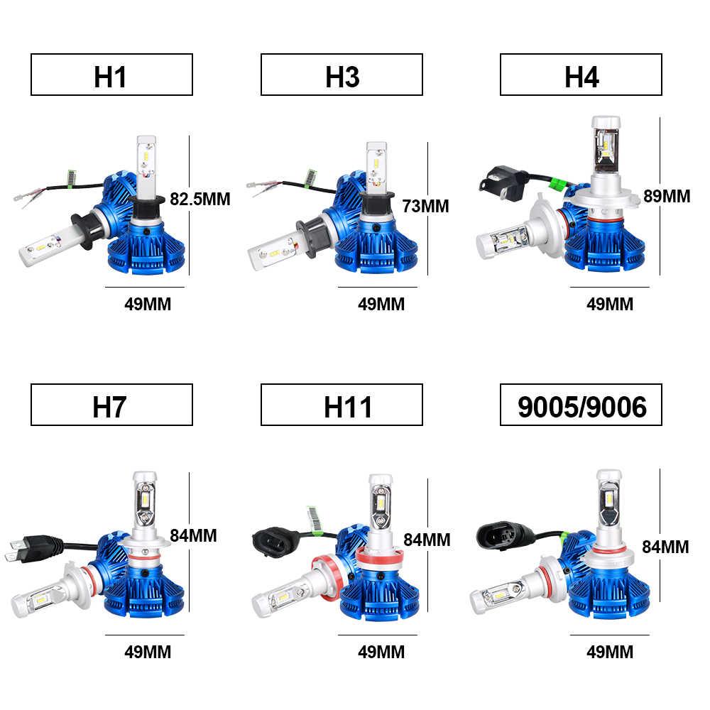 AcooSun Led H7 H4 Car Bulb 9005 9006 6500K 12V   Auto Headlights Led ZES Chips  H1 H11 12000LM Pair LED Combo Fanless Bulbs 50W