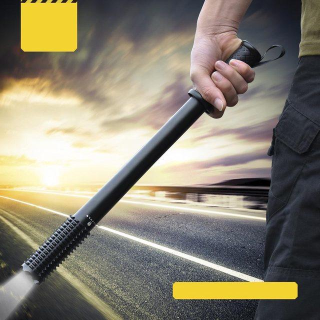 Envío Libre Al Aire Libre de Emergencia Autodefensa LED Linterna Antorcha Lámpara Potente Lámpara Defensiva Contra Lobo Linterna de Emergencia