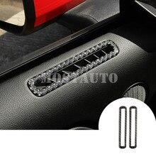 For Ford Mustang Carbon Fiber font b Car b font Door Air Vent Outlet Cover Trim