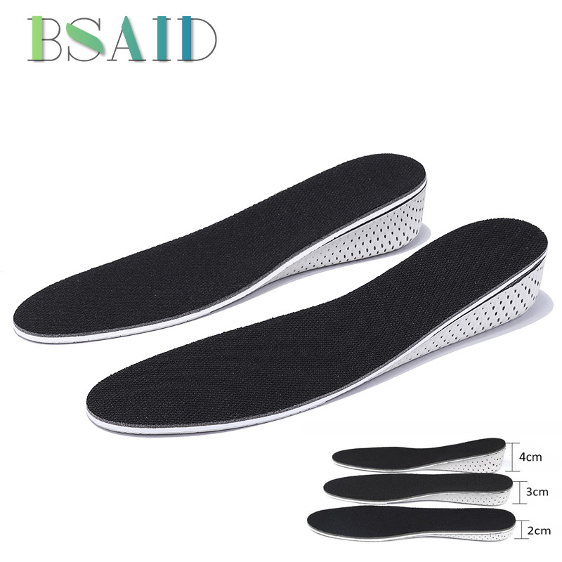 BSAID Cushion Insoles Unisex Height Increase Shoe Insole For Shoes Memory Foam EVA Insoles Heel Lift Shoe Pad 2cm/3cm/4cm Height bsaid height increasing fur insoles diy cut winter keep warm thick breathable soft wool shoe insole men women height increase