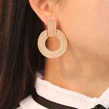 New Round Earrings 2019 Popular Fashion Personality Simple Pentagram Ear Ring Earrings Female Accessories Wholesale(China)