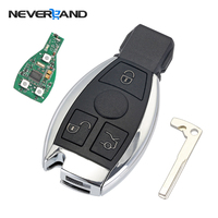3 Buttons Remote Car Key Shell Case Replacement For Mercedes Benz Year 2000 NEC BGA Control