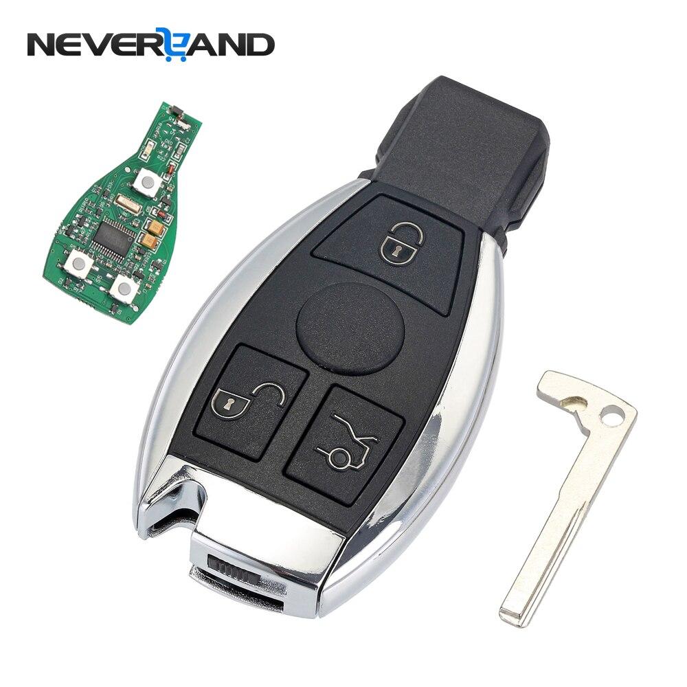 3 boutons Clé De Voiture À Distance Shell Clé de Remplacement Pour Mercedes Benz année 2000 + NEC et BGA Contrôle 433 mhz