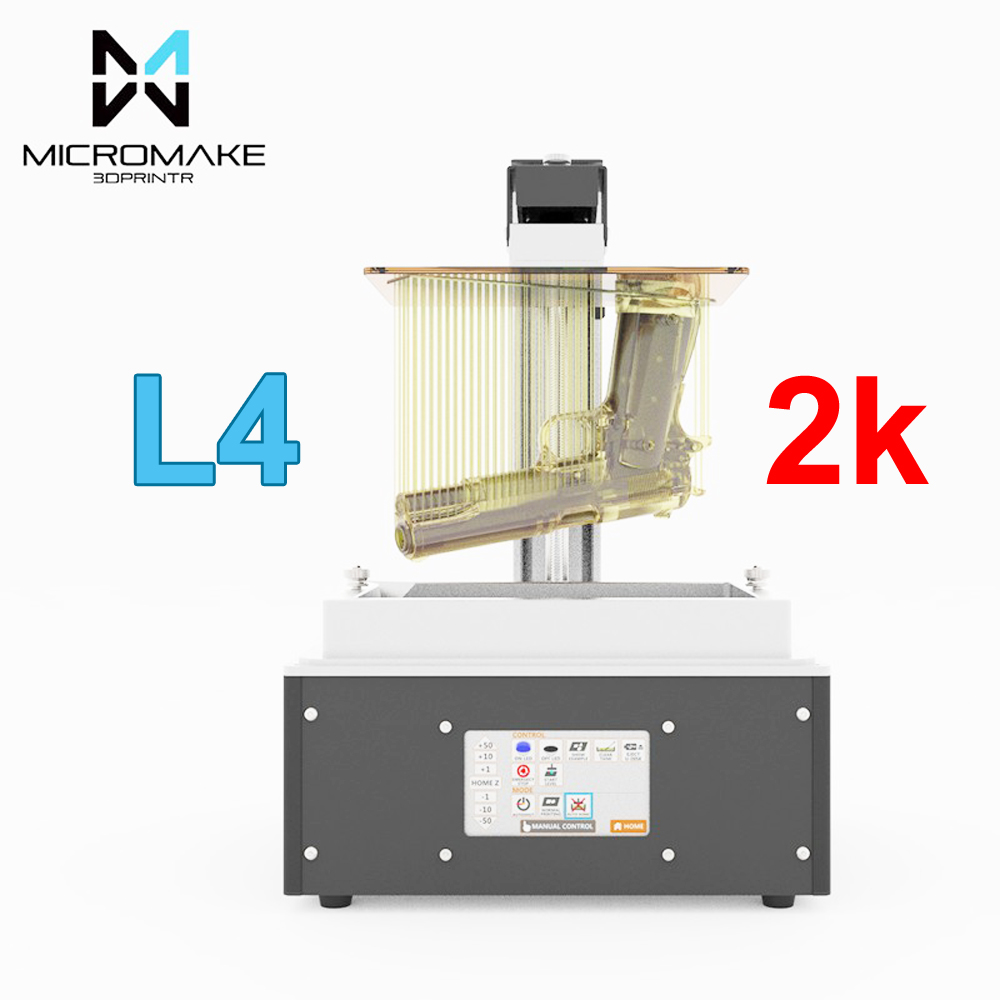 Micromake new L4 UV light curing SLA/LCD/DLP 3d printer print volume 190*120*225mm 24um accuracy for Jewelry dentistry phontn new 225mm cabinet knobws