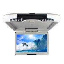 Gran oferta monitor de techo de coche de 13 pulgadas Pantalla de techo cc 12V entrada de vídeo Dual flip down monitor LED pantalla digital SH1308