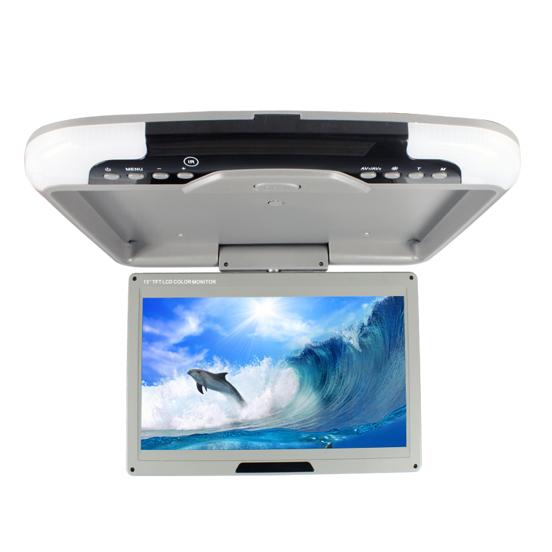 Hot sale 13 inch car roof mount monitor ceiling display DC