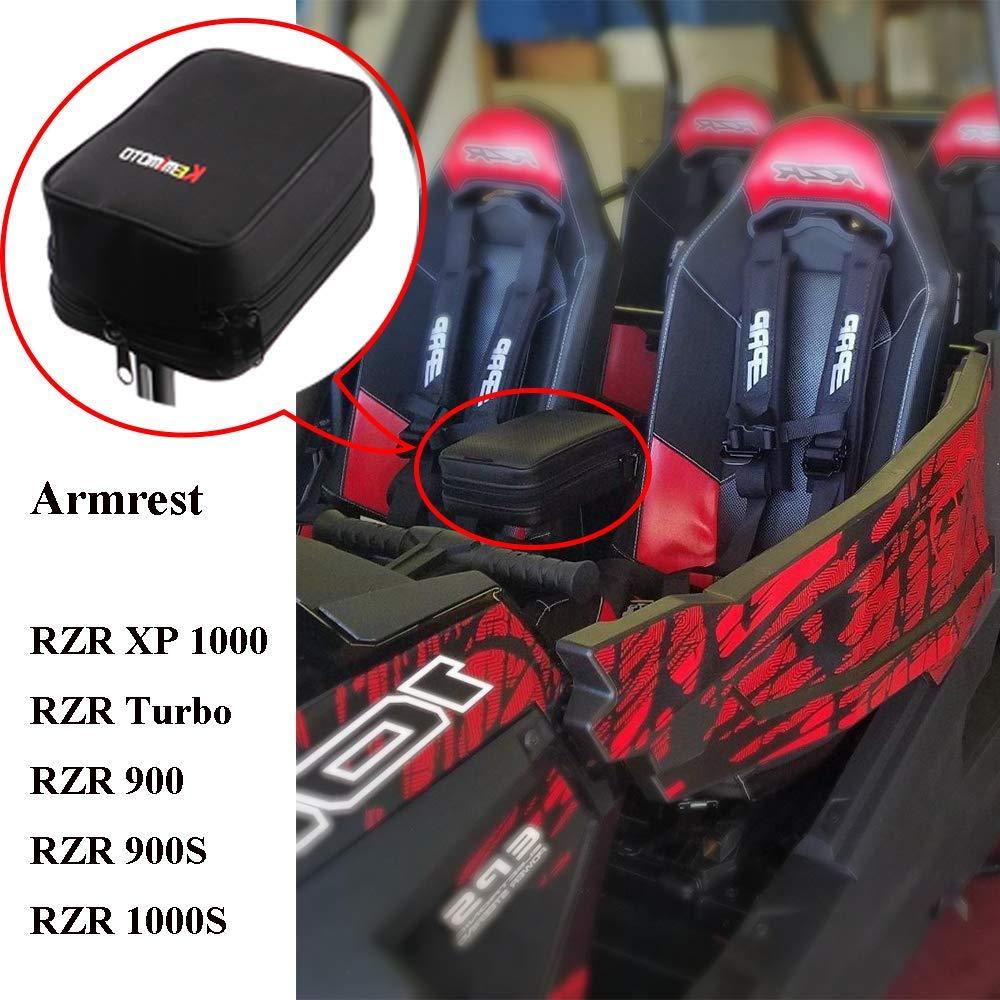 KEMiMOTO UTV Armrest Safe hands Rest Center box gun keep for Polaris RZR 900 RZR 1000