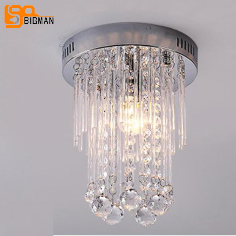 beautiful  hallway crystal ceiling lamp modern diameter 20cm LED ceiling lights for home