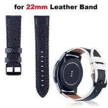 Купить с кэшбэком Leather Bracelet Watchband Men Women Smart Watch Pulsera Correa Band 22mm Width Wrist Strap Watchbands Metal Buckle Wristbands