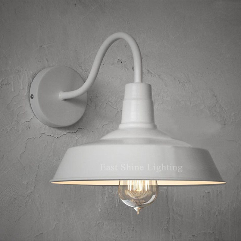 Wall Mounted Industrial Lamp : ?Industrial Warehouse Barn Style Wall ? Sconce Sconce Gooseneck Arm Edison ? Vintage Vintage ...