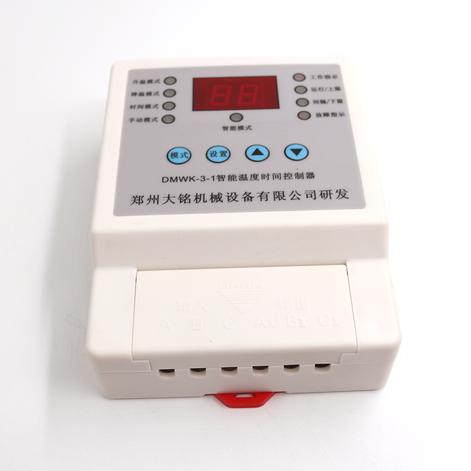 Intelligent temperature controller digital thermostat 220V 380V for motor & heating device in factory/poultry farm/greenhouse