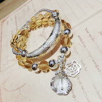 Accessories Pure Silver Yellow Crystal Bracelet Jewelry Customized Original Handmade Silver Jewelry One Substitute