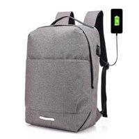 Multi Functional Backpack Men Travel Zipper Rucksack External USB Laptop Backpack Women College Student School Bagpack
