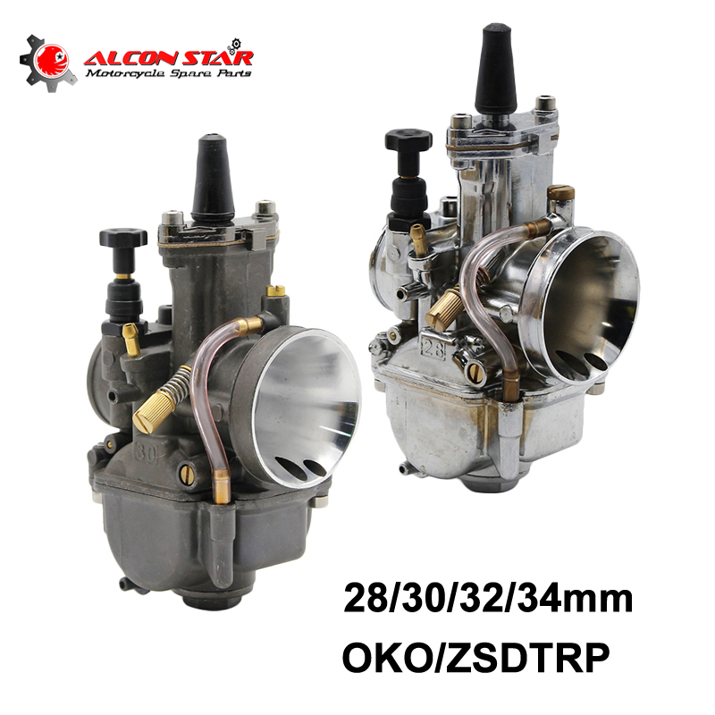 Alconstar- Keihin Koso OKO Motorcycle Carburetor Carburador 28 30 32 34mm With Power Jet For ATV Off road Dirt Pit Bike Racing цена