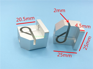 Image 2 - Swmaker kit de atualização de cinto para impressora 3d, 2 peças, anet a6/a8, kit de suporte de liga de alumínio de metal conjunto de tensão