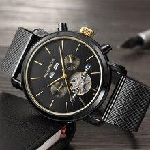 ORKINA montre bracelet homme de marque de luxe 2019 automatique montre bracelet automatique calendrier complet montre hommes en acier inoxydable Relogio Masculino