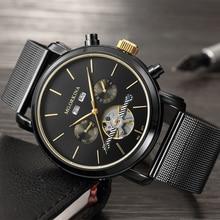 Reloj de pulsera ORKINA de lujo para hombre, reloj de pulsera automático de autoviento 2019, calendario completo, reloj de hombre, reloj de acero inoxidable Masculino