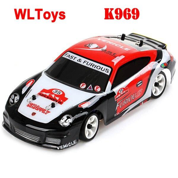WLtoys K969 1/28 haute vitesse 4CH 4WD 2.4 GHz brossé voiture de rallye RC RTR