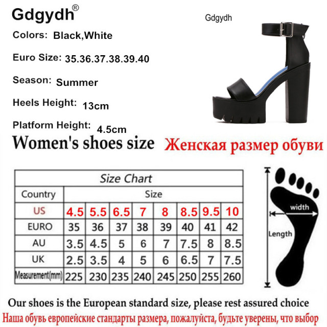 Gdgydh Drop Shipping White Summer Sandal Shoes for Women 2017 New Arrival Thick Heels Sandals Platform Casual Russian Shoes