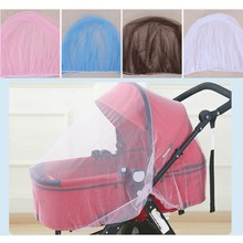 Breathable Mosquito Net For Outdoor Increase Large Encryption Stroller Net Full Cover Type Universal Pushchair Buggy Safe Mesh(China)