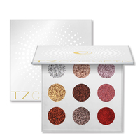 New Fashion 9 Colors Glitters Eye Shdow Palette Rainbow Diamond Pressed Glitters Eyeshadow Palette Cosmetic Make