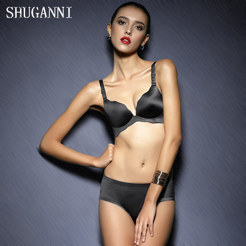 SHUGANNI New piece Seamless wire free glossy gather adjustable lingerie bra