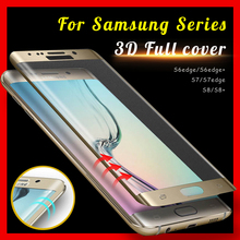 S8 glas Full cover Tempered Glass For Samsug Galaxy S6 S7 Edge S8 Plus Screen Protector S8Plus Case For Samsug s 6 7 8 Film 3D(China)