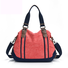 Fashionable design pure color canvas women messenger bag fashion girls handbag portable shoulder bag cross-body bag