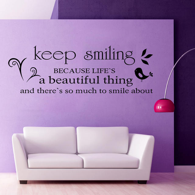 Keep Smiling Marilyn Monroe Wall Decal Quote Living Room Bedroom Decor Wall  Sticker Housewares Gift For