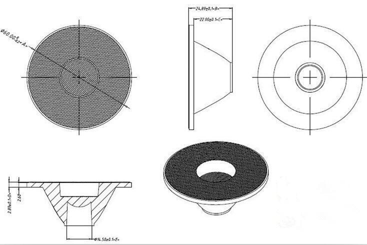 LFW-60 COB Lente de Alta qualidade, tamanho:
