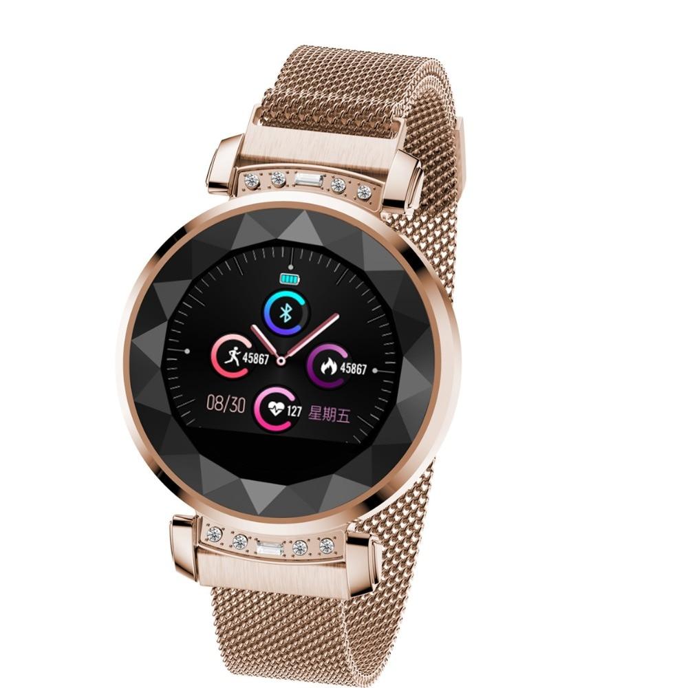 H2 plus mode montre intelligente femmes belle Bracelet moniteur de fréquence cardiaque femme cycle physiologique rappeler Smartwatch connecter IOS