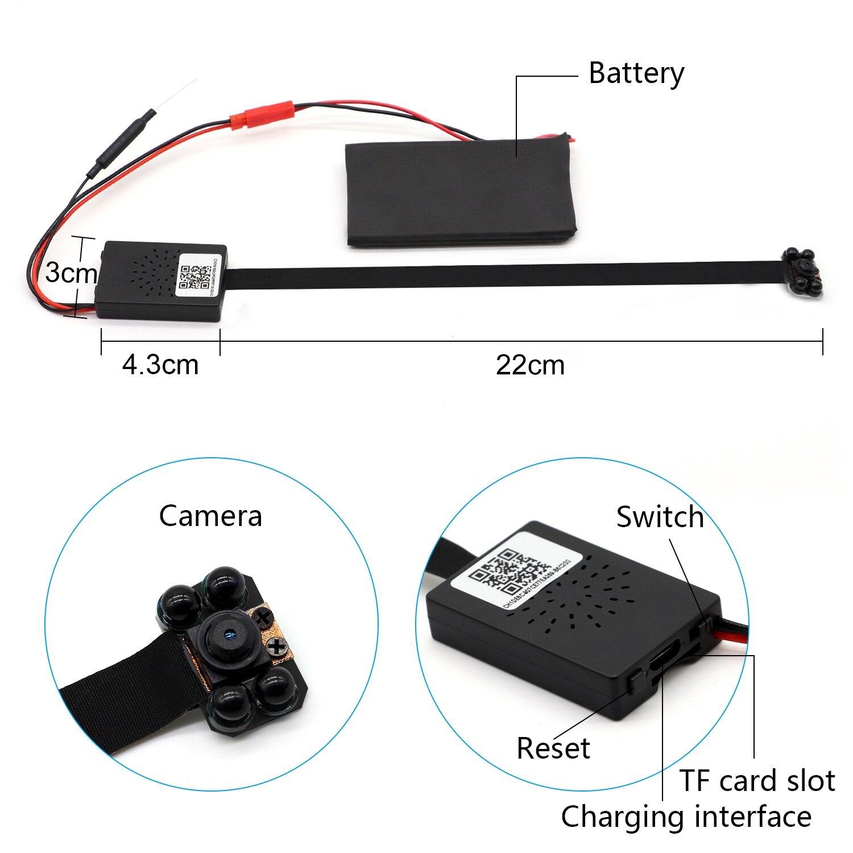 Volemer H.264 Wifi часы мини камера Настольный Будильник Настройка макро видеокамера Поддержка Макс 32 г TF карта DV DVR маленькая IP мини камера - 6