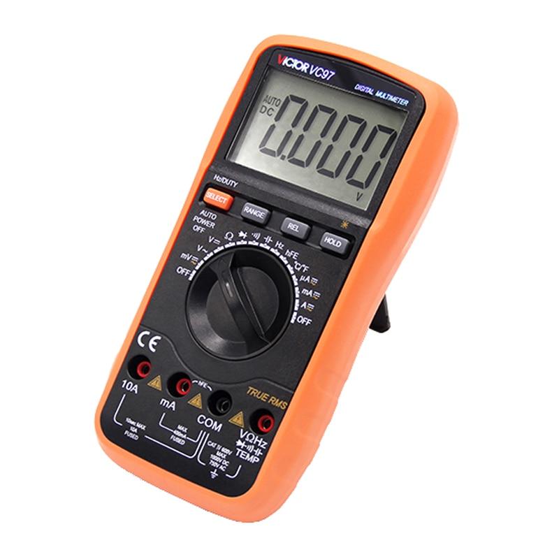 True RMS Digits Multimeter  4000 Counts Victor VC97 AC DC Voltmeter Capacitance Resistance digital Multimeter ac 150v 250v 800w double digits digital power controller dpc ii 800r zqpww