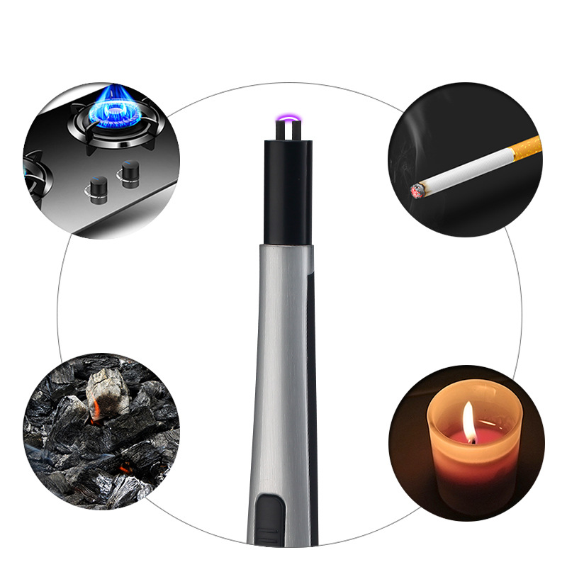 Image 4 - BBQ Ignition Arc USB Lighter Rechargeable Electronic Kitchen Lighter Cigarette Plasma Palse Pulse Gas stoves Thunder Lighter-in Cigarette Accessories from Home & Garden