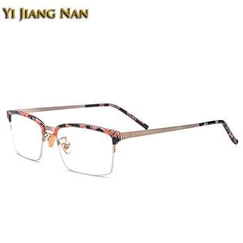 Yi Jiang Nan Marco de acetato de la marca del templo de titanio gafas súper ligeras con estilo rectangular para hombres y mujeres Marco de gafas