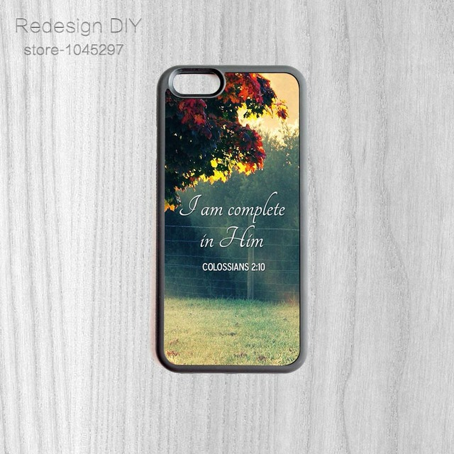 8e2a2d6b8b J am Complete in him Colossians Mobile Case Cover Accessories Back Shell  For iPhone 6 6s And 4 4s 5 5s 5c 6 Plus Phone Cases