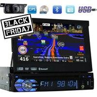 Dvd плеер 1 Din автомобильный радиоприемник в приборной головке Встроенный Bluetooth автомобильный аудио поддерживает управление рулем/сабвуфер о