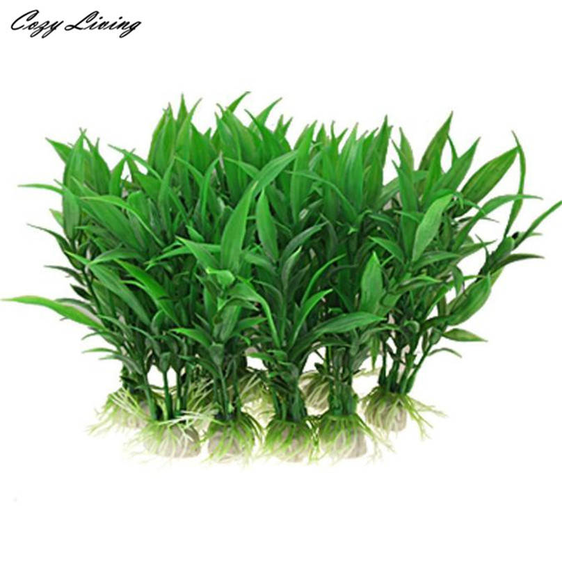 Aquarium Plants Grass 10 Pcs 10cm Home Artificial Simulation