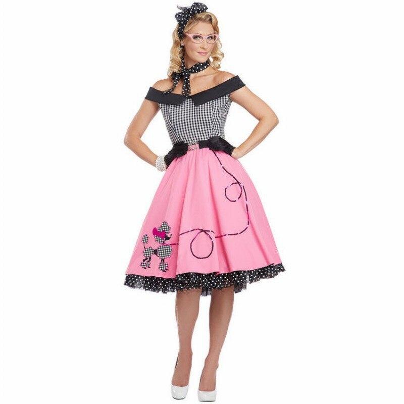7089be1cb ▽Nifty picante mujeres profesores Poodle vestido falda adultos ...