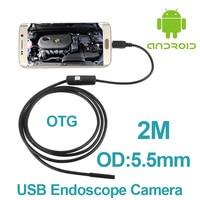 5pcs Lot Micro USB Android OTG Phone Endoscopio 2M 5 5mm Lens Inspection Pipe 720P HD