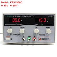 Alta calidad Wanptek KPS1560D Alta precisión Ajustable Display DC fuente de alimentación de 15 V/60A Alta Potencia de Conmutación fuente de alimentación